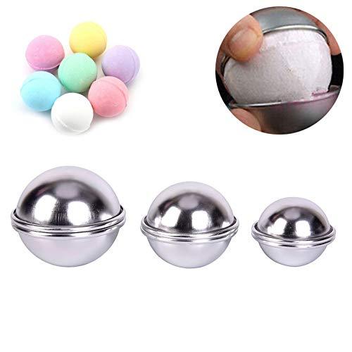 6Pcs/Set Aluminum Alloy Ball Sphere Bath Bomb