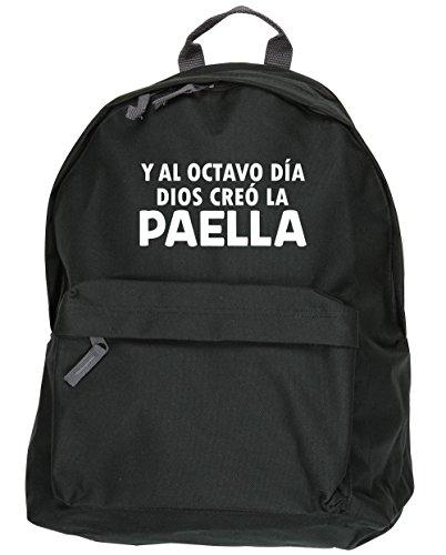HippoWarehouse Y Al Octavo Día Dios Creó La Paella kit mochila Dimensiones: 31 x 42 x 21 cm Capacidad: 18 litros Negro