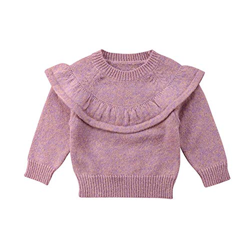 born Infant Baby Girl Sweater,Kid Long Sleeve Ruffle Warm Autumn Winter Pullover Tops,0-3 Years ()