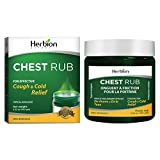 Herbion Naturals Chest Rub, 3.5 fl oz – Topical Analgesic; Relieves Cough, Nasal and Chest Congestion; Soothes Pains and Aches Associated with Strains, Sprains, and Arthritis