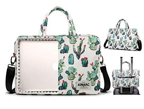 Kinmac 360 Degree Protective Water Resistant Laptop Shoulder Messenger Sleeve Case Bag (14 inch, Cactus)