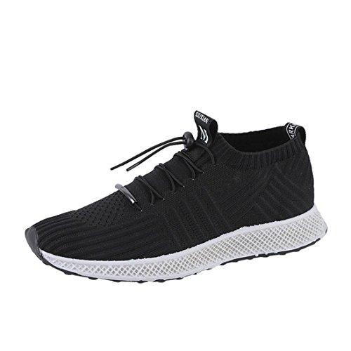 Running Sport Casual Casual Ginnastica Sneaker 41 Corsa Fitness Sportive Interior Scarpe Scarpe da all'Aperto da Asia UOMOGO® Uomo Nero Tennis Outdoor aqYXwB