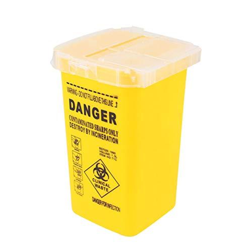 SUPVOX Sharps Box Sharpsguard Bin Tattoo Needles Container Yellow