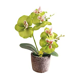 shengyuze Decorative Fake Flower Simulation Artificial Butterfly Orchid Flower Bonsai with Pot Home Table Decor 33