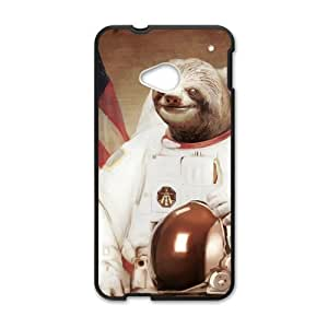 Canting_Good Cute Toed Astronaut Sloths Custom Case shin for HTC One M7(Laser Technology)