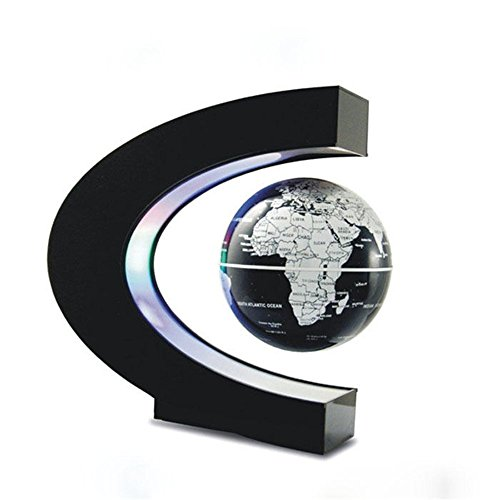 Senders floating globe with led lights c shape magnetic levitation senders floating globe with led lights c shape magnetic levitation floating globe world map for desk decoration gumiabroncs Image collections