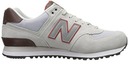 New Balance WL574 - Zapatillas de deporte Hombre Blanco (White/Red)