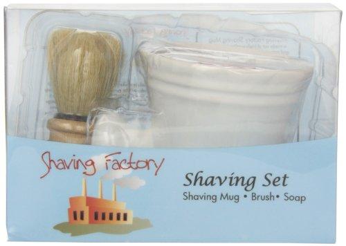 Shaving Factory Shaving Mug Set, White