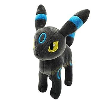 XEMI Pokemon Standing Shiny Umbreon Animal Stuffed Plush Quality Cartoon Toy Espeon