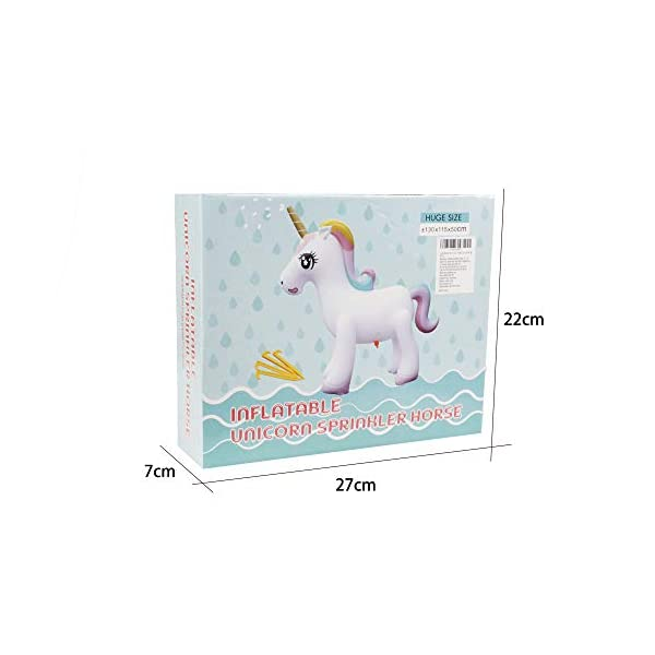 Happytime Giant Inflatable Unicorn Yard Sprinkler Newest Outdoor Inflatable Unicorn Sprinker Water Toy for Adults Kids… 10