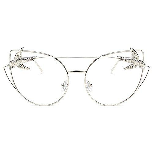 de con Gafas grandes clásicas gato montura de retro de Gafas con Hombres para Ojos de aves montura sol unisex Retro sol gafas de sol Gafas Blanco d mujeres Decoración sol de metálica Gafas la de personalidad OqACaxtntw