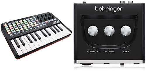 AKAI Professional APC KEY 25Teclado controlador MIDI USB para Ableton con 25 teclas de estilo piano + Behringer U-PHORIA UM2 Equipos de música ...