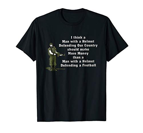 Helmet Green Big T-shirt (I Think A Man With A Helmet Defending Our Country)