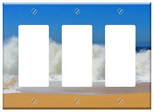Switch Plate Triple Rocker/GFCI - Crashing Waves Lover Beach Mexico Cabo Beach
