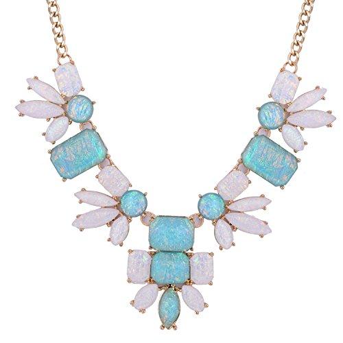 [November's Chopin (TM) Flower Simple Style Statement Pendant Elegant Sexy Choker Necklace (Blue)] (Egyptian Woman Costume Uk)