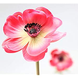 En Ge Rose Anemone Flowers with Long Stems Artificial Flower for Home Decor DIY Wedding Bouquet 6