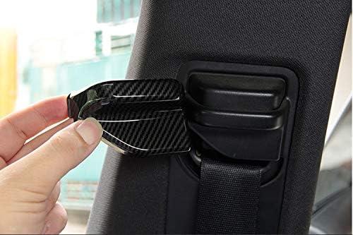 2 st/ücke Carbon Fiber ABS Chrom Sicherheit G/ürtel Abdeckung Trim F/ür B CLA GLA Klasse W117 C117 W246