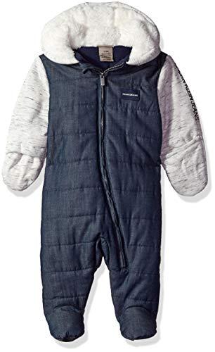 Calvin Klein Baby Boys PRAM, Blue Chambray/Oatmeal, 6-9 Months