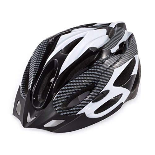 haixclvyE Adjustable Mountain Bike Helmet Carbon Fiber Cycling Helmet Shockproof Unisex Adult Quality Airflow Cycling Helmet White