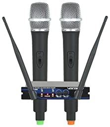 Dual Channel UHF Wireless Mic System, Frequency Sets: M, N