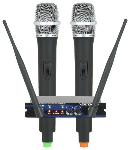 (Dual Channel UHF Wireless Mic System, Frequency Sets: M, N)