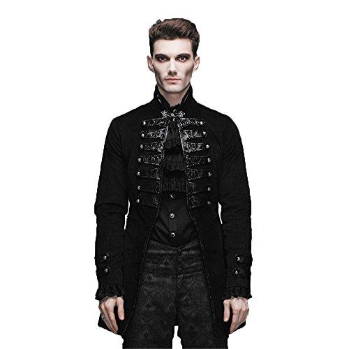 Devil Fashion Winter Gothic Langarm Jacke Punk Stand Collar Jacke f¨¹r M?nner, 6 Gr??en