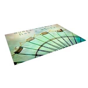 "Kess InHouse Sylvia Cook ""Every Summer Has a Story"" Indoor/Outdoor Floor Mat, 8 by 8-Feet"