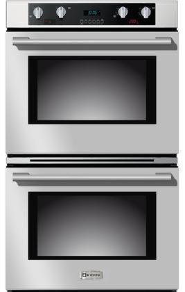 Verona VEBIEM3030DSS 30'' Electric Self Cleaning Double Wall Oven With 4.1 Cu. Ft. Capacity Each Oven True European Convection Ovens Sabbath Mode 12 Cooking Functions and Meat Probe by Verona (Image #2)