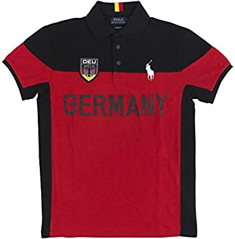 Polo Ralph Lauren Men\u0027s Custom Fit Country Jersey Polo Shirt (Small,  Germany)
