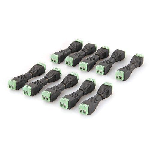 Hilai 10 maschio + 10 femmina connettore di alimentazione DC e barile jack adattatore per telecamera CCTV 2.1 * 5.5 mm