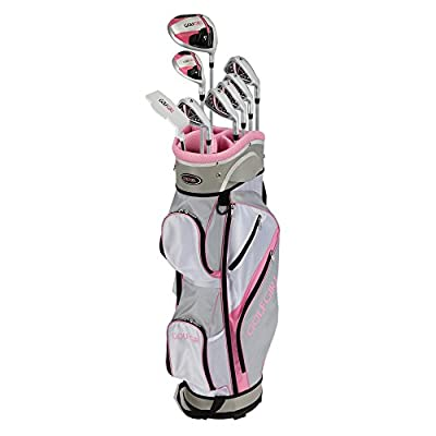 GolfGirl FWS3 Ladies Pink Complete All Graphite Right Hand Golf Clubs Set with Cart Bag