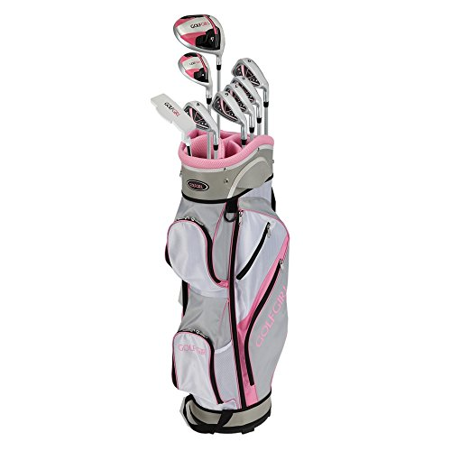 GolfGirl FWS3 Ladies Pink Complete All Graphite Right Hand Golf Clubs Set with Cart Bag by Golf Girl