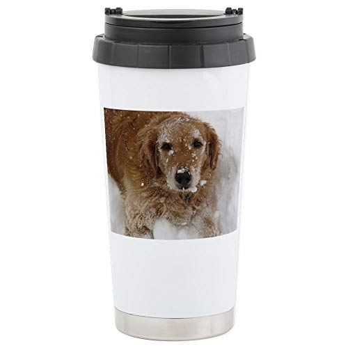 (CafePress Golden Retriever in the Stainless Steel Travel Mug Stainless Steel Travel Mug, Insulated 16 oz. Coffee)