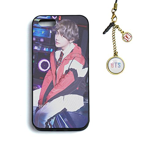 Fanstown KPOP BTS Bangtan Boys LOVE YOURSELF 承 'HER' iPhone 5/5s/se case + Dust plug charm (F17) by Fanstown