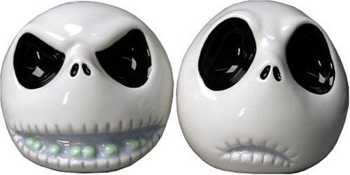 Jack Skellington Ceramic Salt and Pepper Shakers from Nightmare Before Christmas