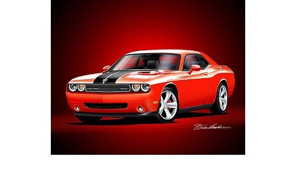 Art print Dodge Challenger SRT8-2008