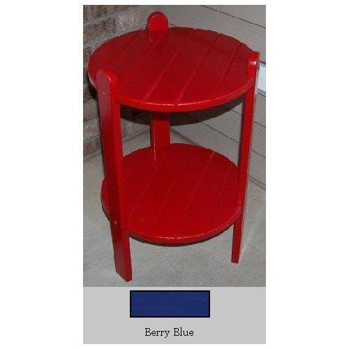 Prairie Leisure 24 in. Adirondack Cottage Side Table - Blue Adirondack End Table