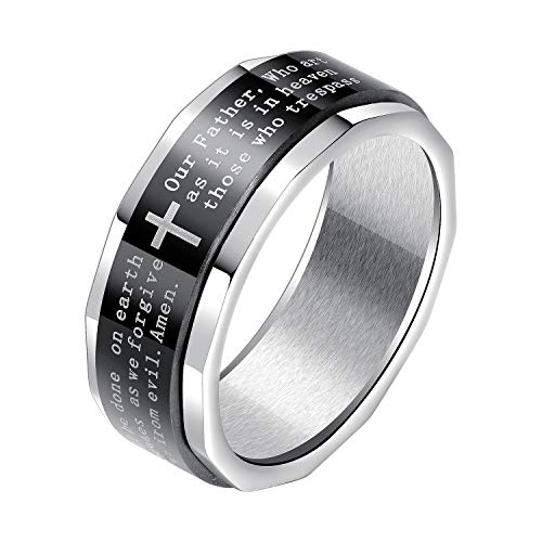 JC Fashion Jewelry Stainless Steel Black Lord