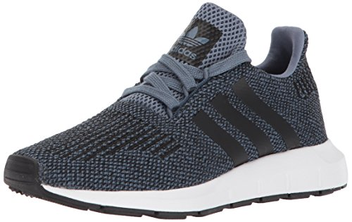 Price comparison product image adidas Originals Unisex-Kids Swift Run J Sneaker, Raw Steel s, Core Black, Core Black, 4 M US Big Kid