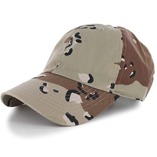 Desert Camo Baseball Cap (Plain 100% Cotton Hat Men Women Adjustable Baseball Cap (30+ Colors) Desert)