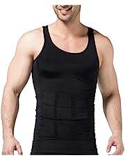 Mens Slimming Tank Top Body Shaper Compression Shirts for Men Slim Undershirts Abs Vest for Workout Abdomen
