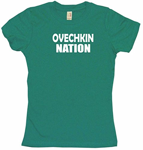 Ovechkin Nation Women's Babydoll Tee Shirt XL-Kelly Green