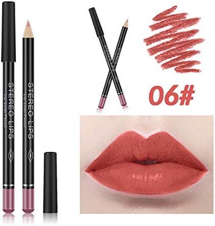 12PCS//Set Multi-Functional Lipliner Pencil Long Lasting Waterproof Lip Pencil 12 Colors