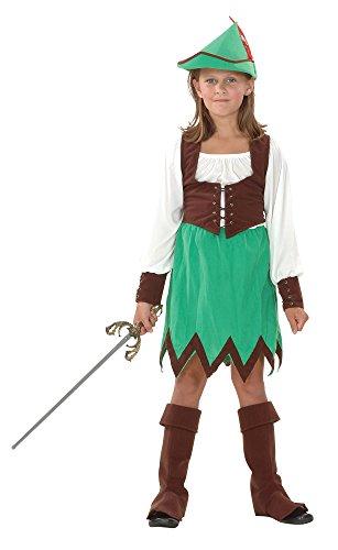 Bristol Novelty CC698 Robin Hood Girl Deluxe Costume (Small), Approx Age 3 -5 Years, Robin Hood Girl Deluxe Costume (S)]()
