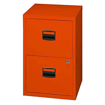 9b10527aa57 Bisley Metal Filing Cabinet 2 Drawer A4 - Color  Orange  Amazon.co ...