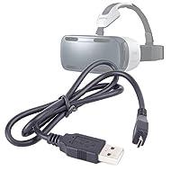 Câble de synchronisation micro USB pour Samsung Gear VR SM-R320 Casque de réalité virtuelle, par DURAGADGET