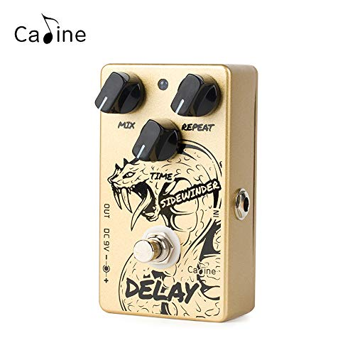 Caline Guitar Pedals Repeat Delay Sidewinder Effects Digital Analog Delay True Bypass Golden CP-63
