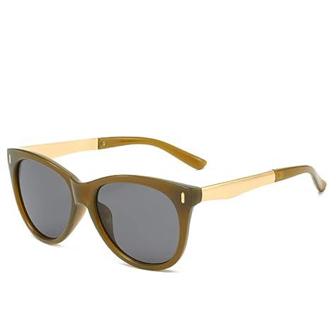 Yangjing-hl Gafas clásicas Remaches Retro Gafas de Sol Gafas ...