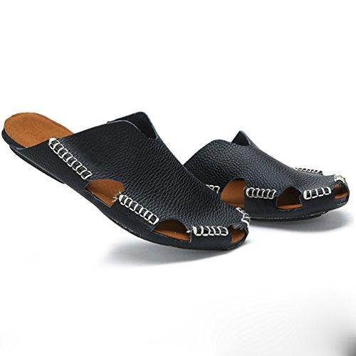 Zoccoli Traspirante Outdoor Ciabatte Sandalo Sportivi LINNUO da Pantofole Uomo Nero Estate Pescatore Scarpe Spiaggia qxwaCIn6T
