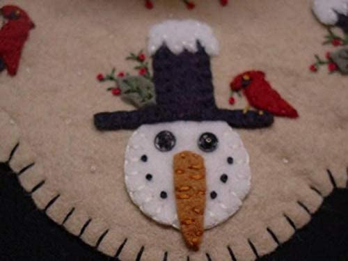 Winter Friends Penny Rug Kit Pre Cut and Pre Washed Applique Kit Snowman Pattern